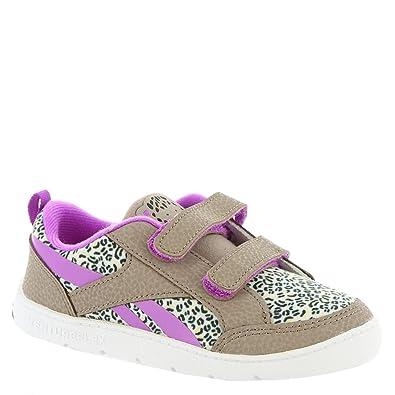 Reebok Kids Baby Girl's Ventureflex Critter Feet (Toddler) Stone Grey/Sand  Stone/