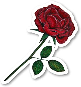 Red Rose Sticker Garden Stickers - Laptop Stickers - 2.5 Inches Vinyl Decal - Laptop, Phone, Tablet Vinyl Decal Sticker S214414