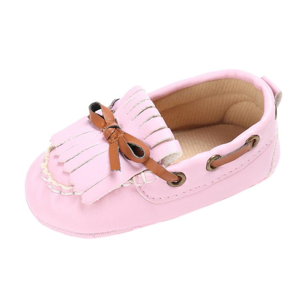 d88700f5112 Voberry Baby Toddler Girl Boys Leather Slip-On Loafers Tassel Bowknot Flat  Shoes Sneakers