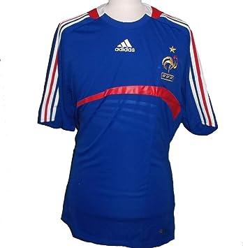 adidas Francia FFF Home Camiseta, Blue/Red, Hombre, 620139, Azul/Rojo, Small: Amazon.es: Deportes y aire libre