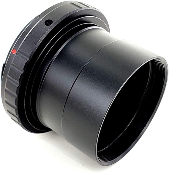 """Ultra Wide Up to 10mm Large Clear Aperture 2inch UltraWide Telescope Camera Adapter for Canon EOS /& Rebel SLR//DSLR with 2/"""" Filter Threads"""