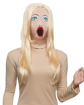 Horror-Shop Máscara muñeca erótica con la Peluca: Amazon.es ...