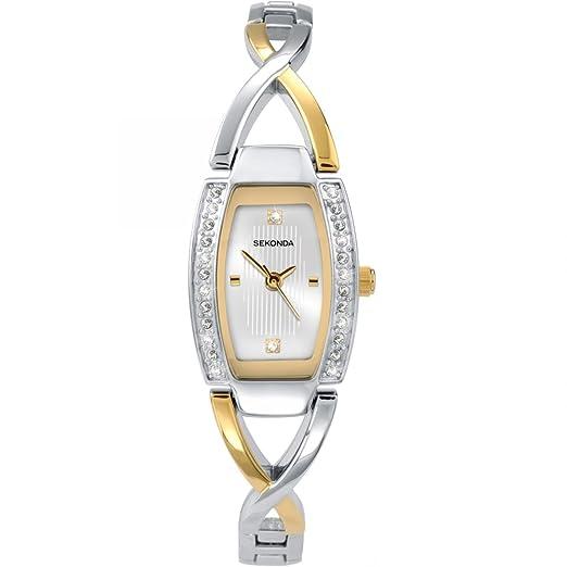 ca0d216b52d2 Sekonda Women's Quartz Watch with Silver Dial Analogue Display and  Multicolour Bracelet 4605.27: Amazon.co.uk: Watches