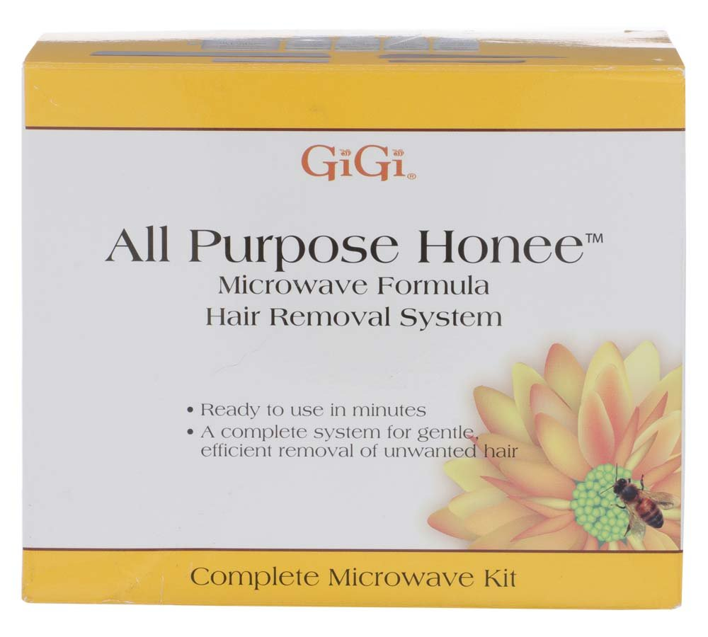 GiGi All Purpose Honee Microwave Kit for Hair Waxing/Hair Removal – Complete Hair Removal System