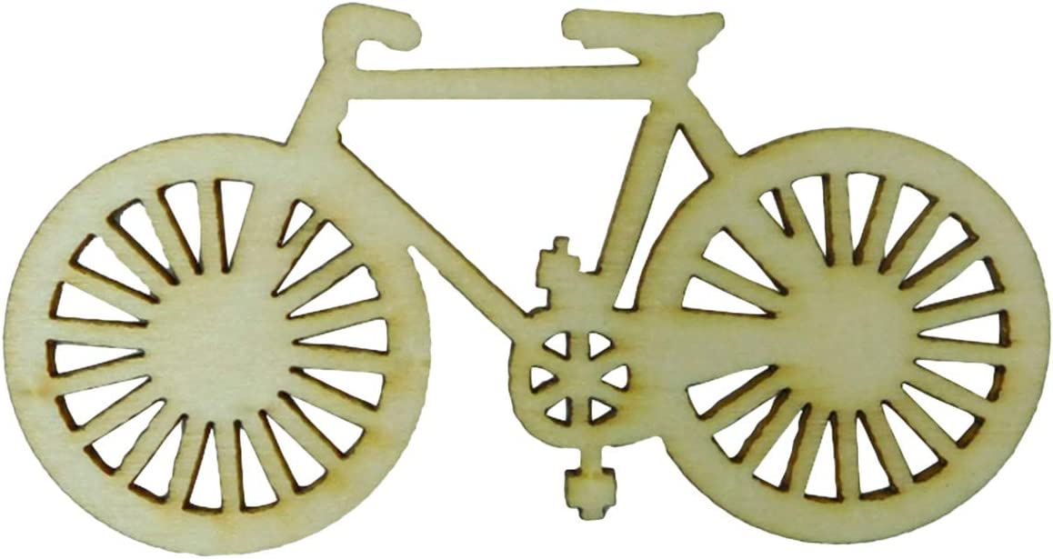 Beautiful Wooden bicycle cutout for decoration,craft scrapbook,blank shapes