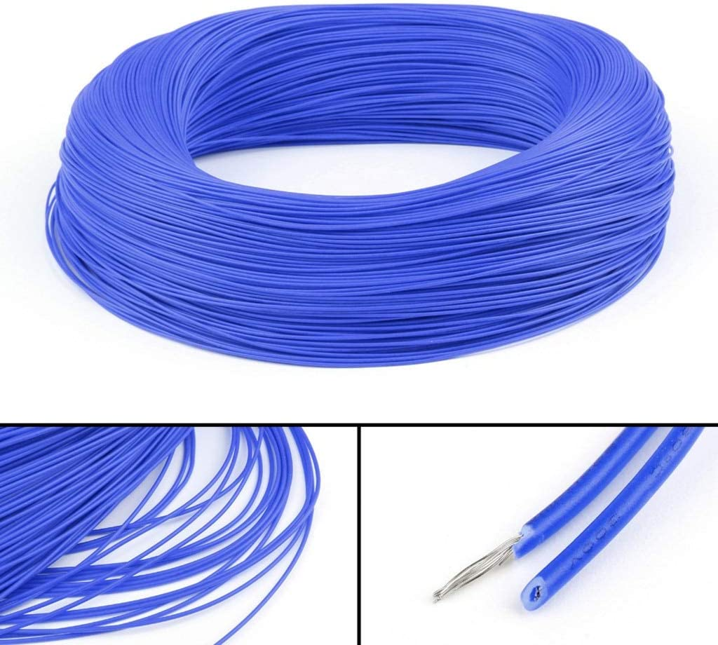 Computer Cables UL1007 20AWG Cable Stranded Flexible Hookup Wire Cord Electric Line Blue 3//5M Cable Yoton 1214#2 Cable Length 5M