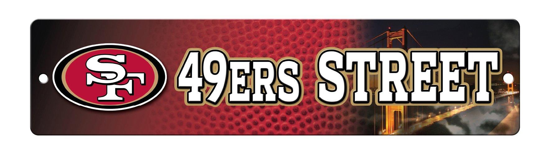 NFL San Francisco 49ers 16-Inch Plastic Street Sign Décor