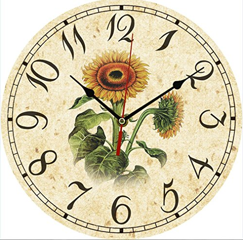 Wooden Clock (Sunflowers)