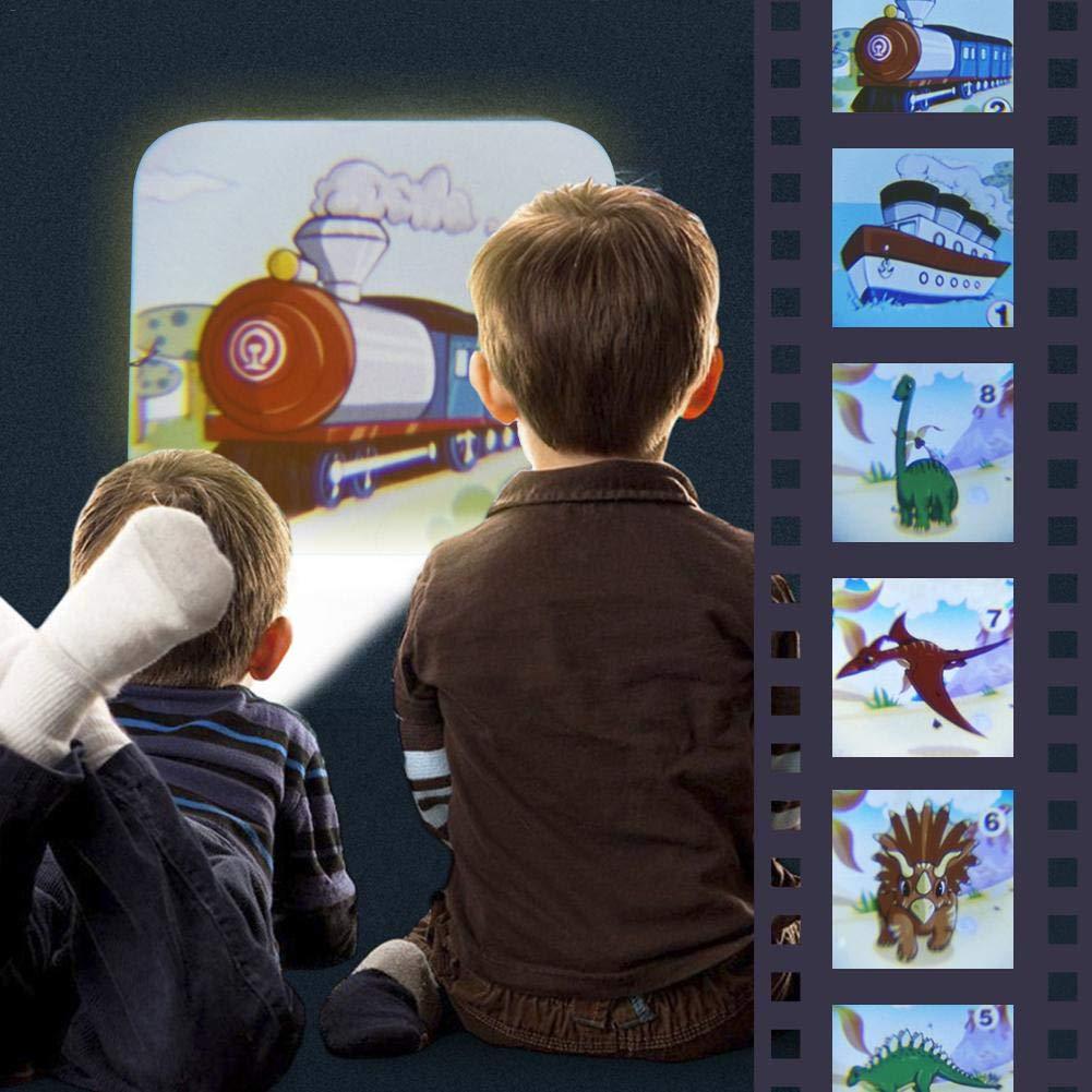 3-in-1 Gute Nacht Geschichte feiledi Trade Kindergeschichten Projektionslampe mit 8 M/ärchen 64 Folien f/ür Kleinkind Junge M/ädchen Nachtlicht Taschenlampe Projektionslampe