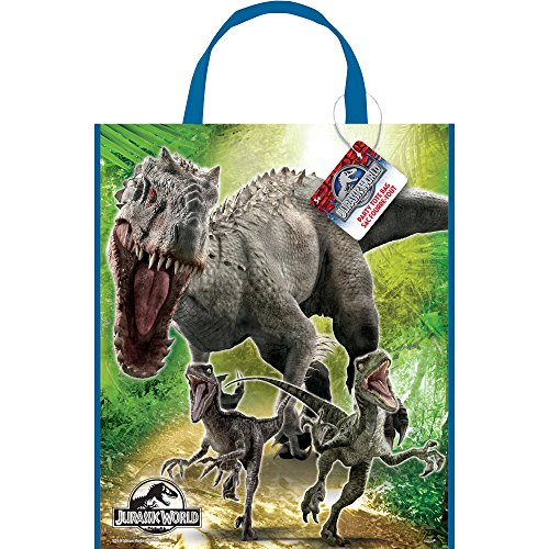 "Large Plastic Jurassic World Goodie Bag, 13"" x (Indominus Rex Costume)"