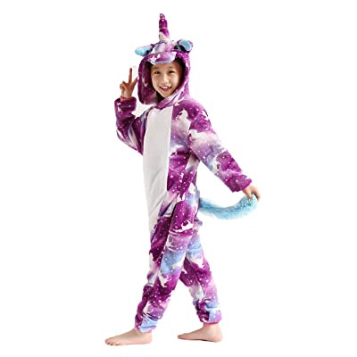 Kids Unicorn Costume Animal Cosplay Pajamas Halloweem Sleepwear: Clothing