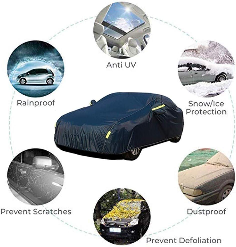 LIUFS Couverture De Voiture Compatible avec Toyota Corolla Hybride 2020 Housse De Protection Solaire Ext/éRieure Imperm/éAble Et Coupe-Vent B/âChe De Voiture Ignifuge /éLev/é Doubl/éE De Coton Absorbant