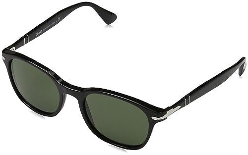 Persol 3150, Gafas de sol para Unisex, Negro (Gestell: schwarz, Gläser: grün 95/31), 51