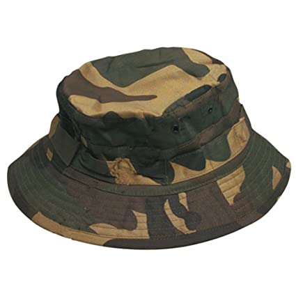 Amazon.com  Camouflage Aussie Bush Bucket Hat Army Green Forest ... ad67a6f1fc5