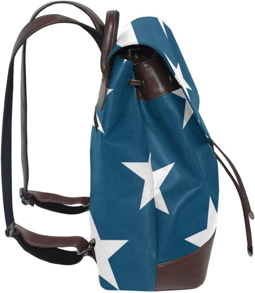 Oximing National Flag Womens Leather Shoulder Bag Outdoor Bag And Schoolbag