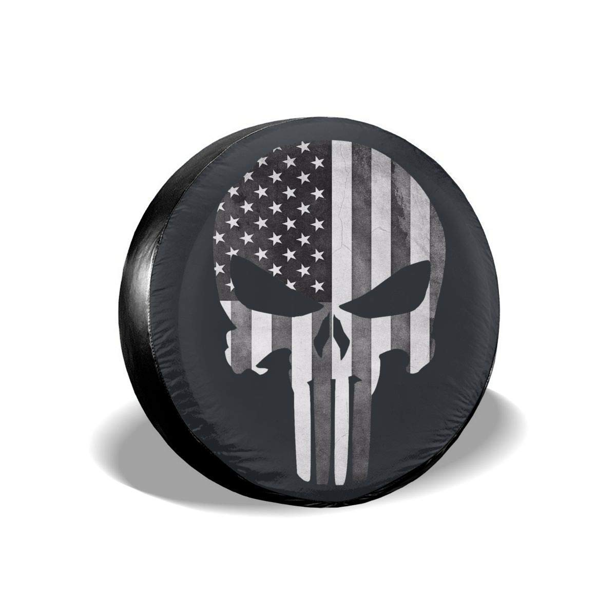 Vbnbvn Housses de pneus Skull Polyester Universal Dust-Proof Sunscreen Wheel Covers for Jeep Trailer RV SUV Truck and Many Vehicles 14 15 16 17