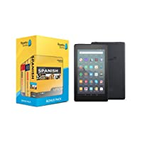 Amazon.com deals on Learn Spanish: Rosetta Stone Bonus Pack Bundle w/Fire 7 Tablet