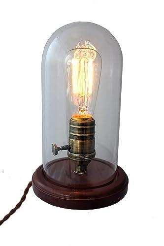 PureLumeTM Nostalgic Edison Table Lamp with Retro 25 W Light Bulb