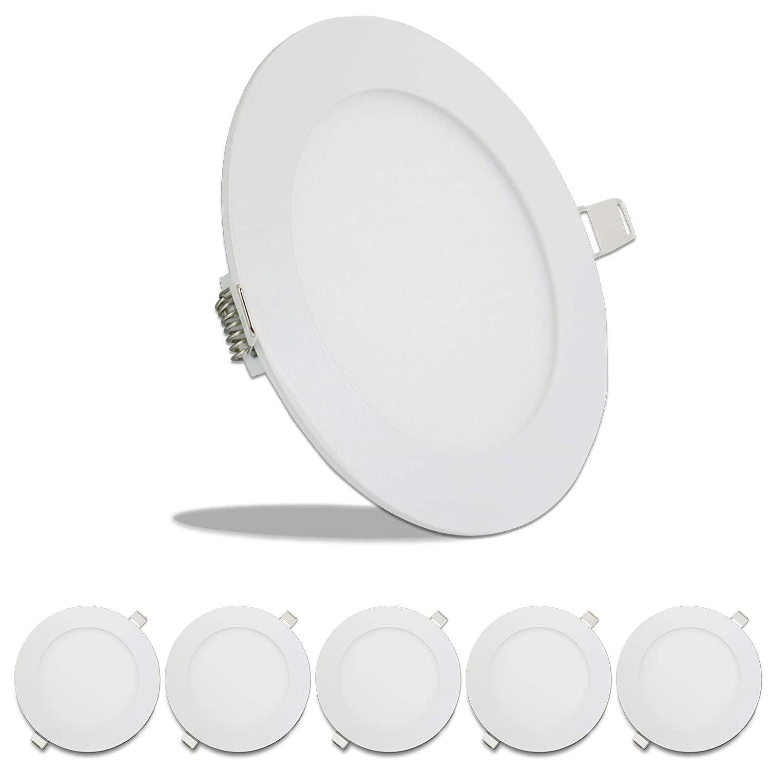 5 Pack Leisure LED RV Boat Recessed Ceiling Light 720 Lumen Super Slim LED Panel Light DC 12V 5.75