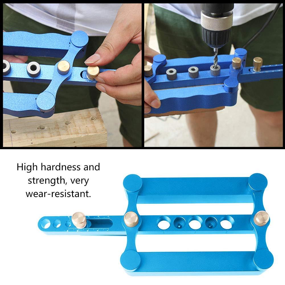 Outil de Rep/érage de Gabarit Auto-centrage Positionneur Menuiserie Charpenterie Bricolage 6//8//10mm Kit Guide de Per/çage de Trou de Goujon Auto-centrage pour Travail du Bois Bleu