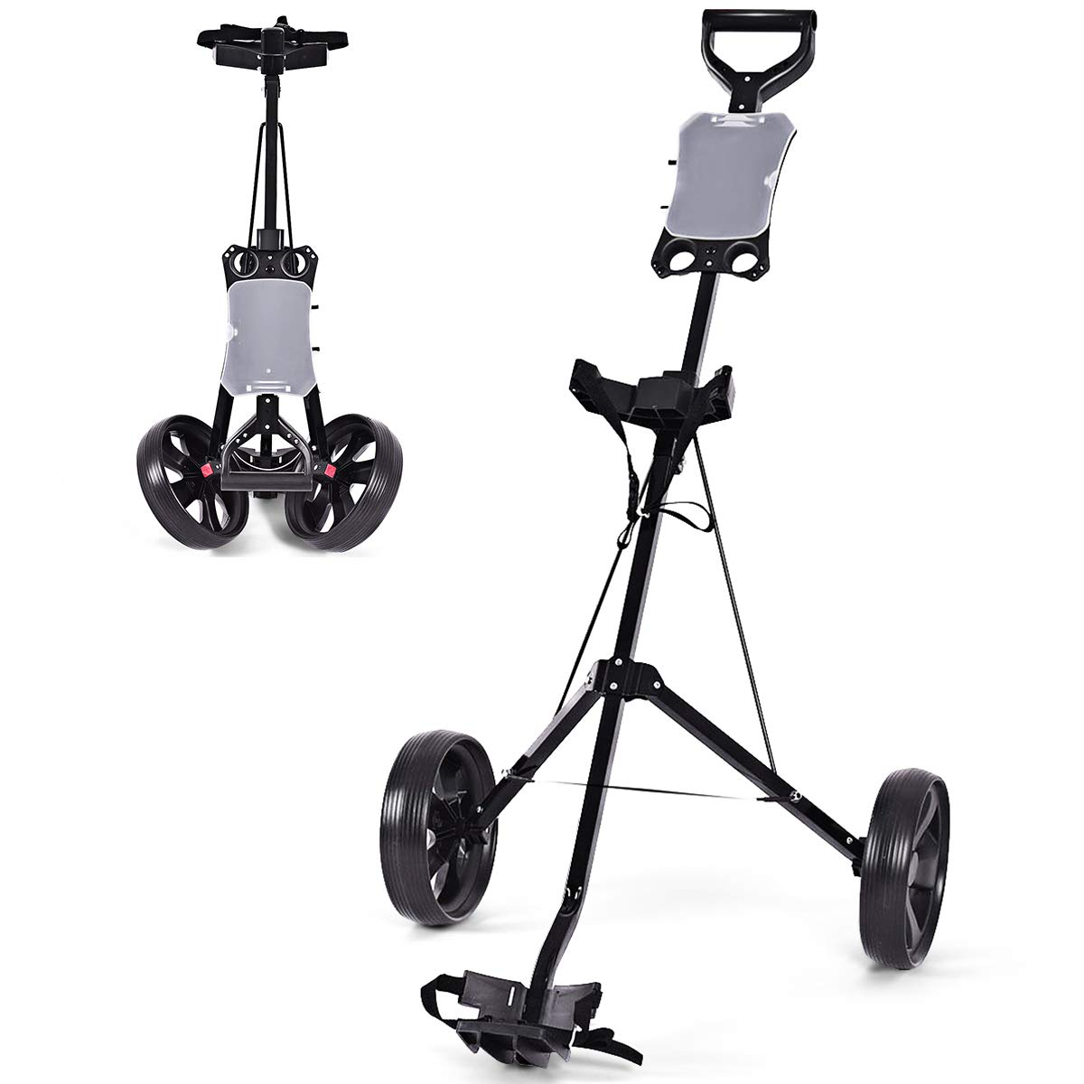 COSTWAY Golf Cart Foldable 2 Wheel Push Pull Cart Trolley by COSTWAY (Image #3)