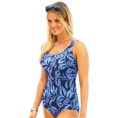 8cd8c03c6e7 Swim 365 Women's Plus Size Swimsuit, Perfect Print Maillot One-Piece ...