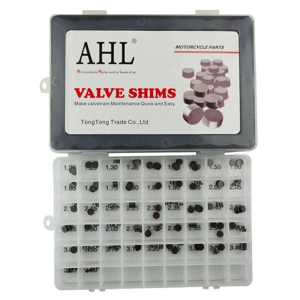AHL 7.48mm O.D. Adjustable Valve Shim Kit for Honda CRF250R CRF250 R 2004-2012 (141pcs) by AHL