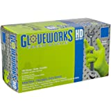 AMMEX - GWGN46100-BX - Nitrile Gloves - Gloveworks - HD, Disposable, Powder Free, 8 mil, Large, Green (Box of 100)