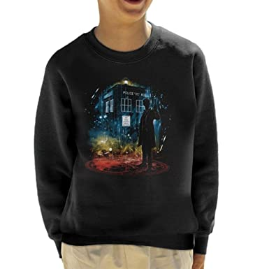 Doctor Who 11th Time Storm Rainbow Kid/'s T-Shirt