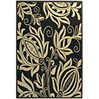 Safavieh Courtyard Collection CY2961-3908 Black and Sand Indoor/ Outdoor Area Rug (9 x 12)