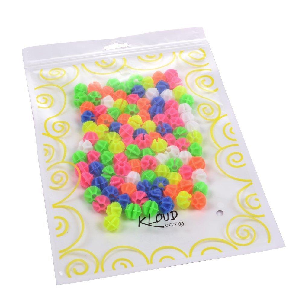 KLOUD City Assorted Colors Bike Bicycle Wheel Spokes Plastic Clip Bead/Spoke Derections (105pcs round bead) by KLOUD City (Image #3)