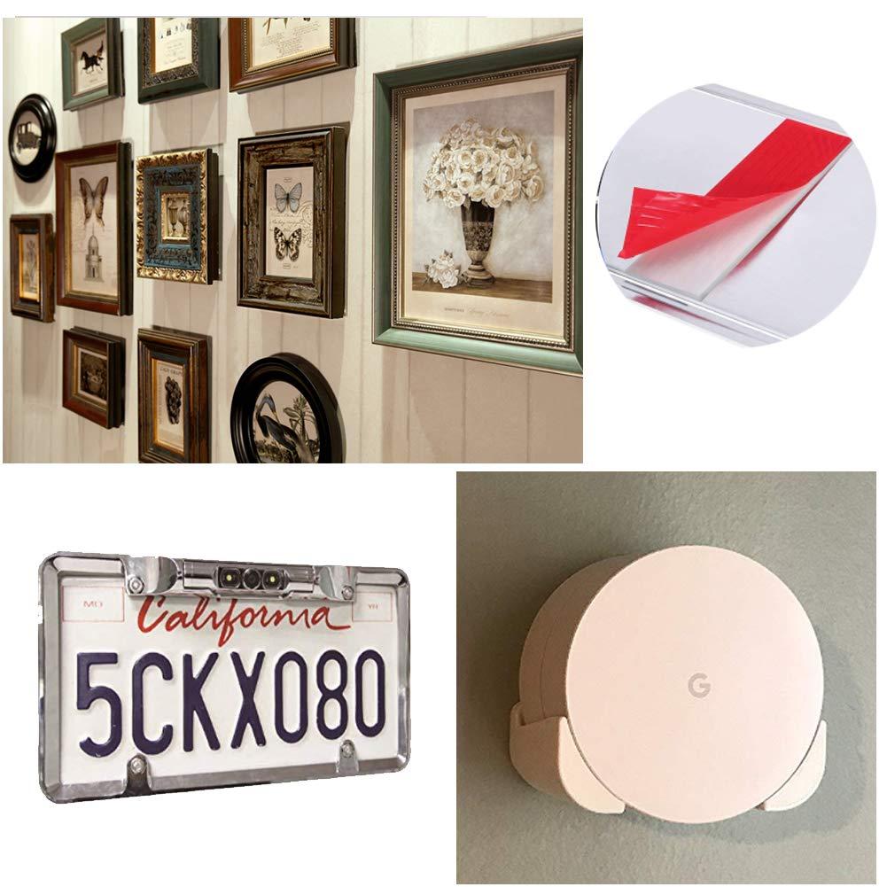 etc. p/óster doble cara Yojoloin para marco de fotos Almohadillas adhesivas de espuma para matr/ícula de coche funda WiFi 40 unidades