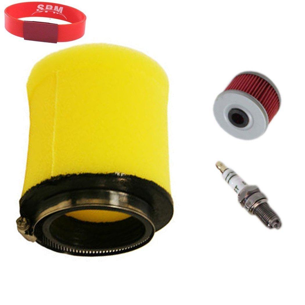 SPM Air Filter Oil Filter Spark Plug for Honda Rancher TRX350 2000-2006 Tune Up Kit