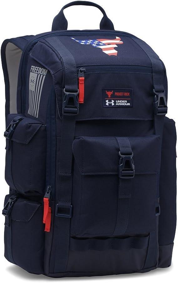 verdad Suburbio Fácil de suceder  Amazon.com: Under Armour UA x Project Rock Freedom Regiment Backpack OSFA  Midnight Navy: Clothing