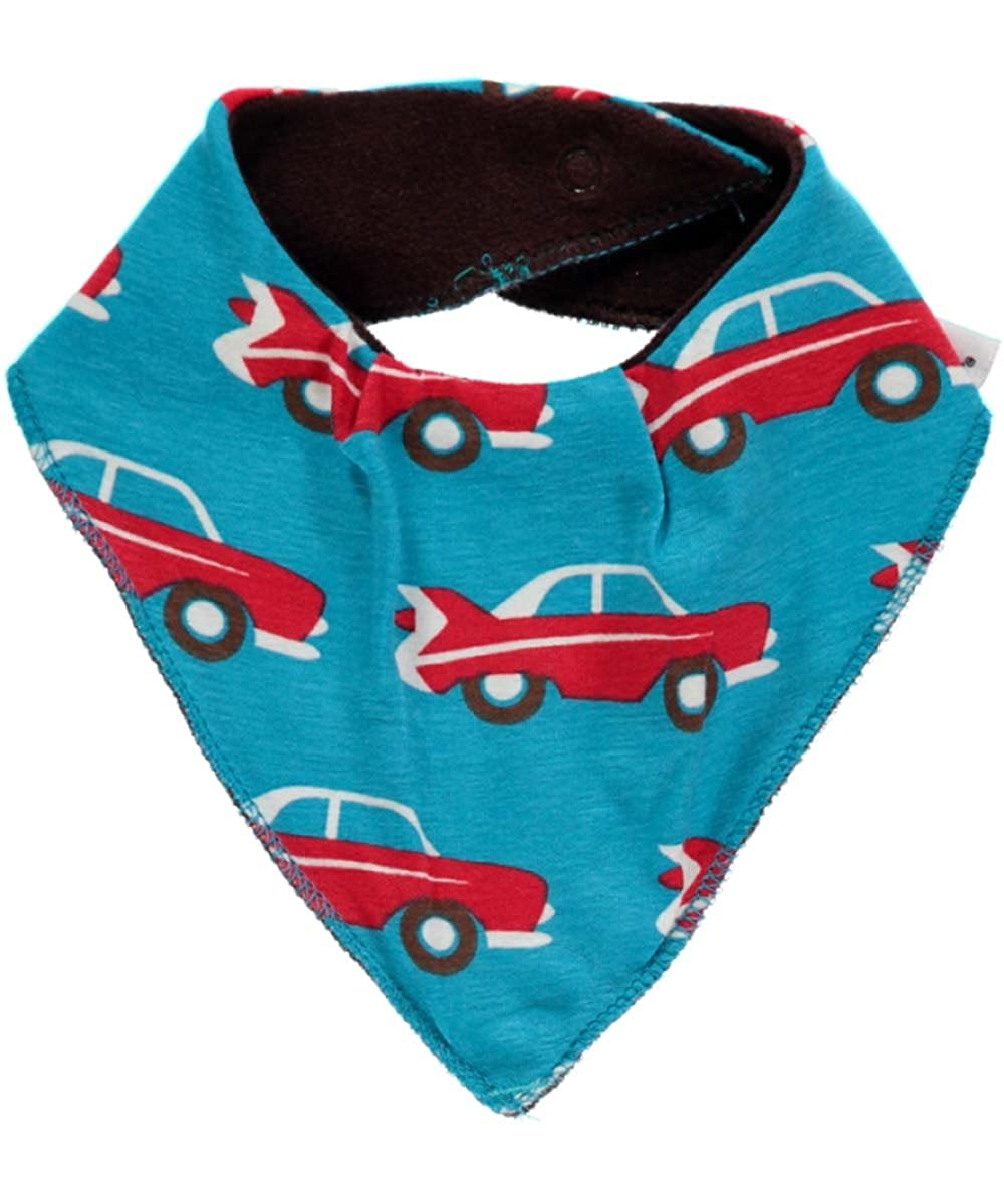 Maxomorra Baby Boys' Neckerchief blue Blau Auto Retro WI6A-M172-D1080-Q12