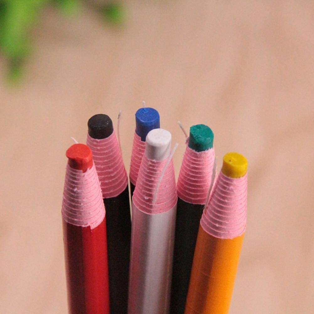 Everley Hutt 6 Pcs//Ensemble Crayons de Craie de Couture sans Coupe Crayon de marqueur de Tissu Crayon de v/êtement de Craie de Couture pour Les Accessoires de Couture sur Mesure
