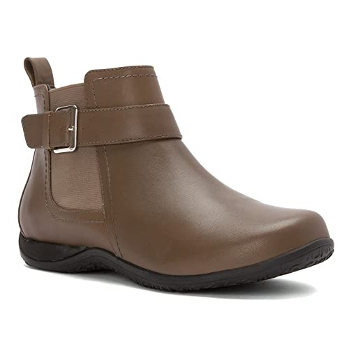 Vionic Adrie Women's Casual Ankle Boot Taupe, UK 4 / EU 37