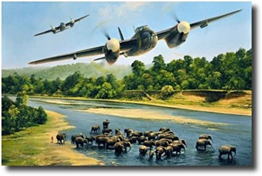 "/""Wild Children/"" Heinz Krebs WW II B-17 Co-Signed Print"