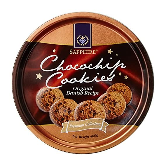 Sapphire Butter Cookies, Chocolate Chips, 400g