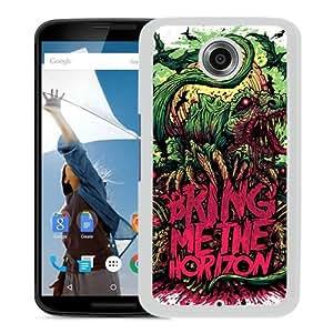 Unique And Popular Google Nexus 6 Case ,Bring Me The Horizon White Google Nexus 6 Screen Cover Beautiful Designed
