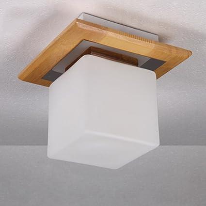 Ceiling light.z ZWL Lámparas de Techo de Madera Simple ...