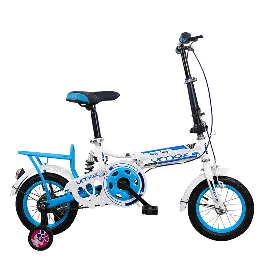 DGF 子供の折りたたみ自転車16インチミニ折りたたみ自転車男性と女性の学生  Blue B07F41KMPC