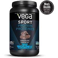 Vega Sport Protein Powder Chocolate(19 Servings,1.86 lb)Plant Based Vegan Protein Powder,BCAAs,tart cherry,Non Dairy,Keto-Friendly