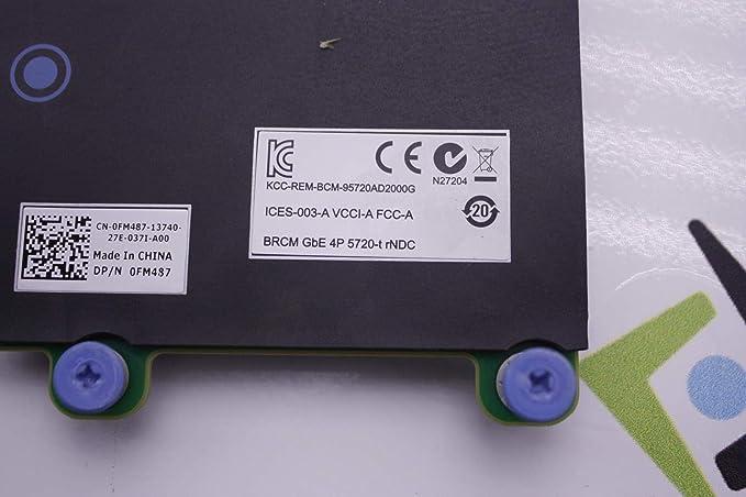FOR DELL R620 R720 four port 5720 Gigabit-E Network Card CN-0FM487 FM487
