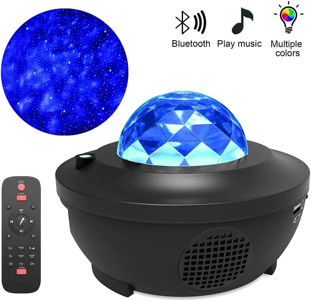 LED Galaxy Projector Light Starry Night Lamp Star Sky Cosmos Night Light Gift for Baby Kids Bedroom Party Home Holidays