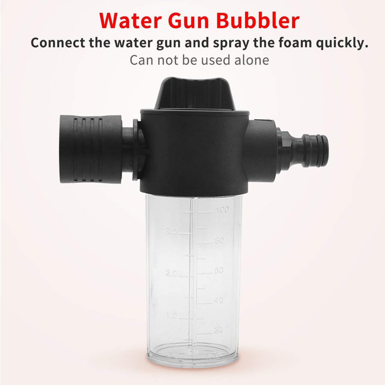 Pistola de agua del coche Espuma de olla 100 ML Lavadora de coches Olla de espuma Lanza Limpiar Herramienta de lavado de coches Profesionales de autom/óviles Autom/óviles Herramientas de lavado