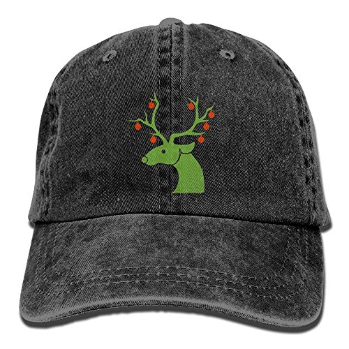 GqutiyulU Christmas Reindeer Adult Cowboy Hat Black ()