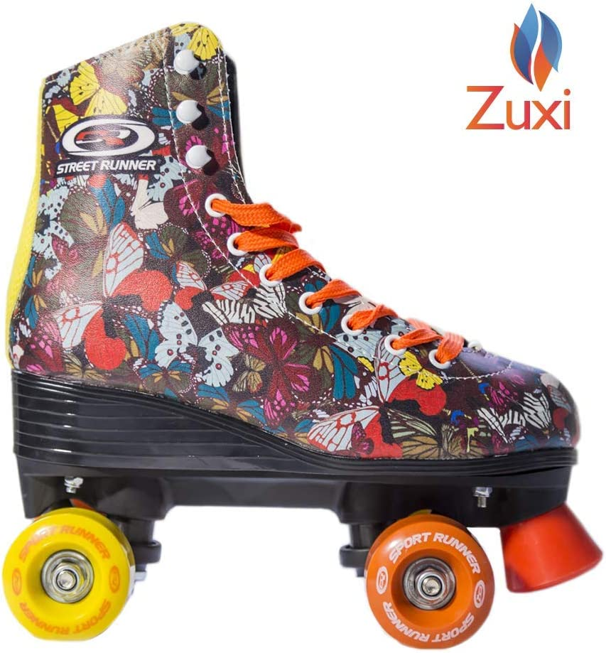 Quad Roller Skates for Girls Kid s Toddler with High Top Shoe Style for Indoor Outdoor Skating Durable, Easy to Skate, Made for Kids