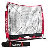 Rukket 5x5 Baseball & Softball Practice Net with Strike Zone Target and Lifetime Warranty