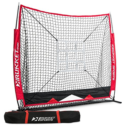 Rukket 5x5 Baseball & Softball Practice Net with Strike Zone Target and Lifetime Warranty by Rukket Sports